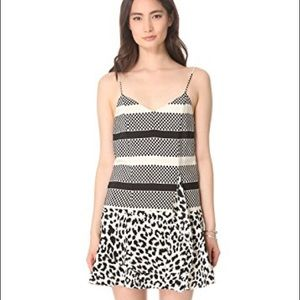 Thakoon Addition Angry Leopard Silk Dress Size 8